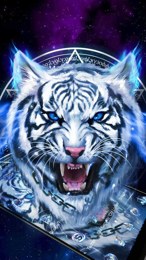 FEARLESS !! Ice Neon Tiger Wallpaper Theme
