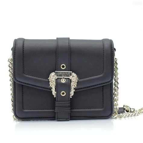 VERSACE JEANS COUTURE Buckle Black Crossbody Bag - Womens