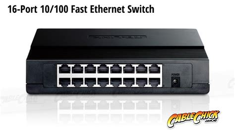 16-Port 10/100 Ethernet Switch (PC Network Switch) + FREE