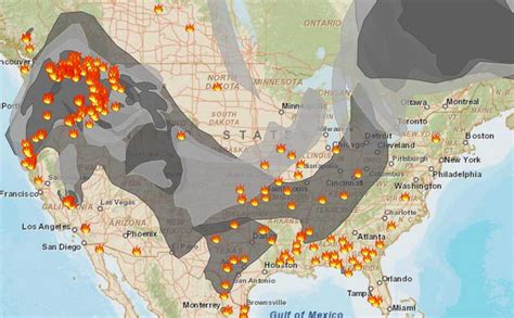 Air Quality Down Nationally Due to Smoke - Wildfire Fighters