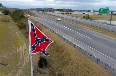 New Confederate flag near Virginia toll plaza is part of a