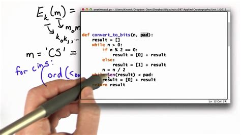 One Time Pad - Applied Cryptography - YouTube