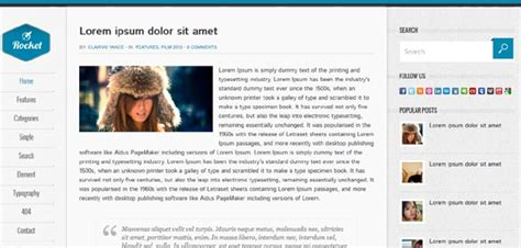 Rocket Blogger Template Free Download « Everything Free