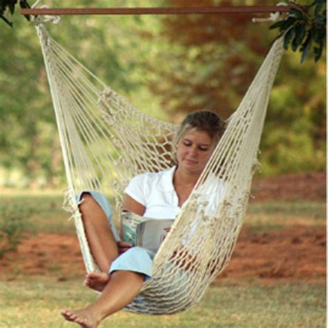 Deluxe Cotton Rope Swing Chair | DFOHome