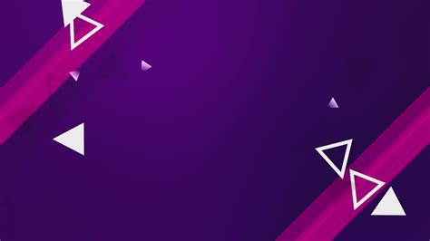 Animation of purple background and white triangles - Free