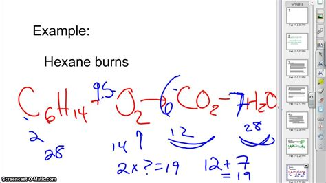 Predict Products: Combustion of Hexane - YouTube
