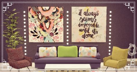 Big paintings sets at Sims4 Luxury » Sims 4 Updates