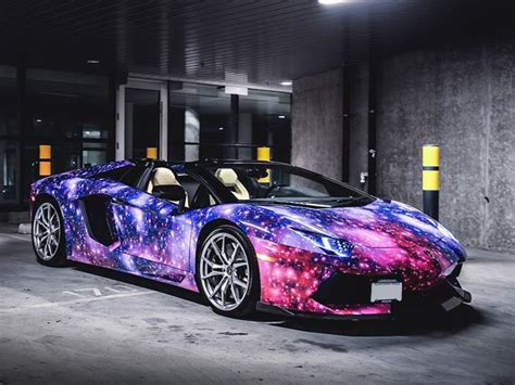 Galaxy-Wrapped Aventador Roadster will Take your Breath