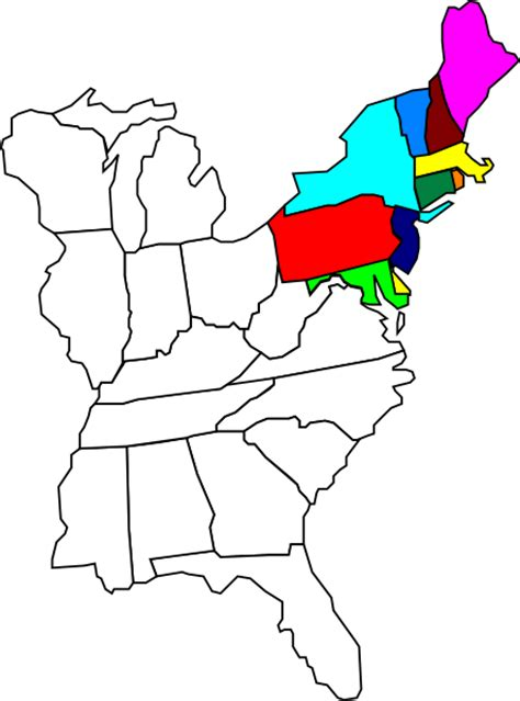 Northeastern United States Clip Art at Clker