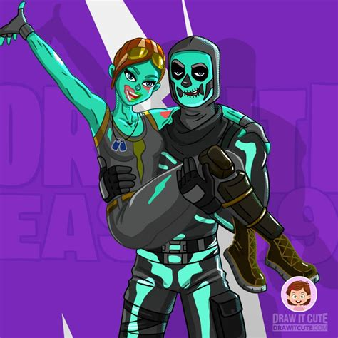 How to draw Ghoul and Skull Trooper | Fortnite Season 1