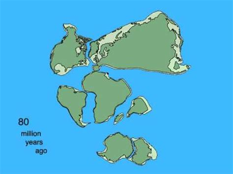 Pangea Breakup and Continental Drift Animation - YouTube
