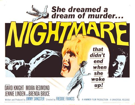 Poster for Nightmare (1964, UK) - Wrong Side of the Art