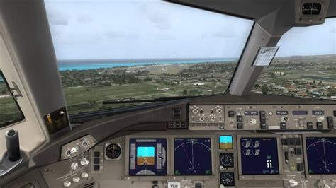 Cockpit Approach Maui Airport Boeing 777-200ER - YouTube
