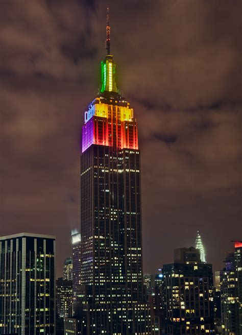 Rainbow Empire State Building | 5DMKII, 24-70mm, 4s at f/5