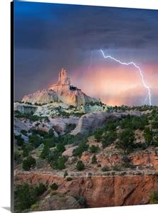 Lightning Strike At Church Rock, Red Rock State Park, New