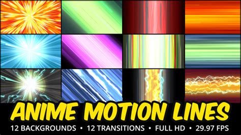 Anime Motion Lines Background Pack by ArtSqb | VideoHive