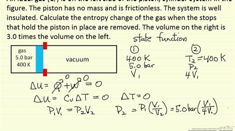 Entropy Change for Ideal Gas Expansion - YouTube