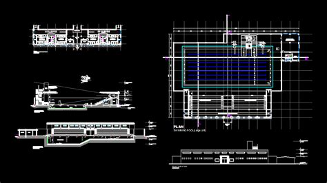 Swimming pool in AutoCAD   CAD download (1